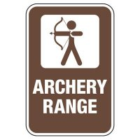 Archery Range - Athletic Facilities Signs