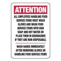 Attention All Employees Must Wear Gloves Sign