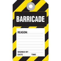 Barricade Accident Prevention Tag
