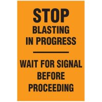 Blasting Barricade Sign Stands - Stop Blasting In Progress - Wait For Signal Before Proceeding