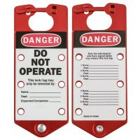 Brady Labeled Danger Do Not Operate Aluminum Lockout Hasps (65960) - 5PK