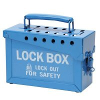 Brady Portable Metal Blue Metal Lockbox - Accommodates 12 Safety Locks (45190)