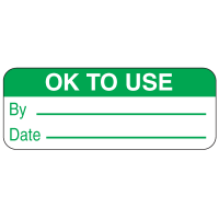 Ok To Use By Date Labels For Greasy Surfaces