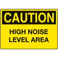 Ear Protection Signs - Caution High Noise Level Area