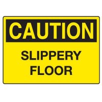 Fall Hazard Signs - Caution Slippery Floor