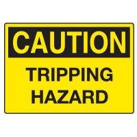 Fall Hazard Signs - Caution Tripping Hazard