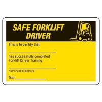 Safety Forklift Driver Wallet Cards