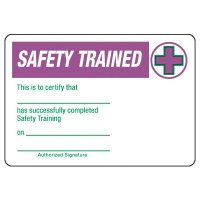 Certification Photo Wallet Cards - Safety Trained