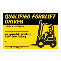 Certification Wallet Cards - Qualified Forklift Driver
