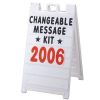 Plasticade® Changeable Message Kit 8410