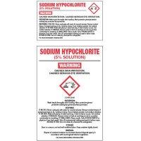 Chemical GHS Labels - Sodium Hypochlorite