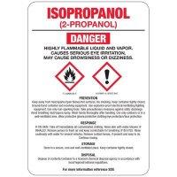 Isopropanol (2-Propanol) GHS Sign