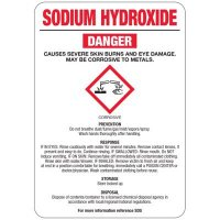 Sodium Hydroxide (Solid) GHS Sign