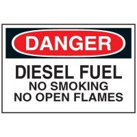 Chemical Labels - Diesel Fuel No Smoking No Open Flames