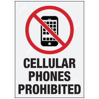 Clear Security Labels - Cellular Phones prohibited