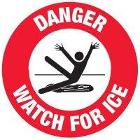 Anti-Slip Floor Markers - Danger Watch For Ice