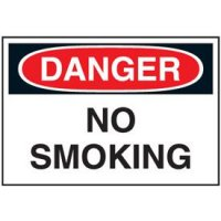 Cold Adhesion Safety Labels - Danger No Smoking