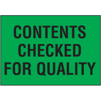 Contents Checked For Quality Color Coded QC Labels