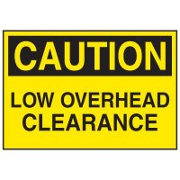 Confined Space Labels - Low Overhead Clearance