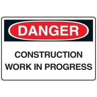 Construction Work In Progress Danger Sign
