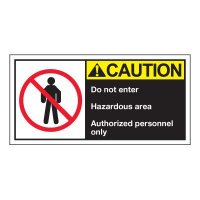 Conveyor Safety Labels - Caution Do Not Enter