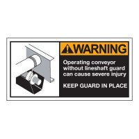 Conveyor Safety Labels - Warning Operating