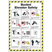 Conveyor Safety Poster - Bucket Elevator Safety