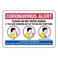 Coronavirus Alert Do Not Enter School Sign