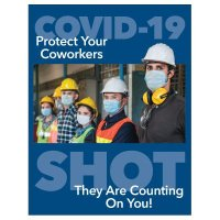 COVID-19 Vaccine Poster - Protect Your Coworkers