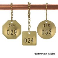 Custom Stamped Brass Valve Tags