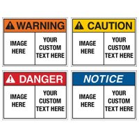 Custom ToughWash® Plastic Encapsulated Signs