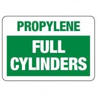 Cylinder Status Sign: Propylene - Full Cylinders