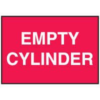 Cylinder Status Signs - Empty Cylinder