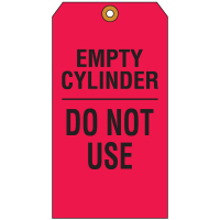 Cylinder Status Tags - Empty Cylinder Do Not Use