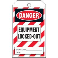 Danger Equipment Locked-Out - Lockout Tag