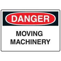 Machine & Operational Signs - Danger Moving Machinery