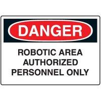 Machine & Operational Signs - Danger Robotic Area