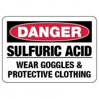 Danger Sign: Sulfuric Acid