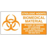 Etiological Agents Biomedical Material Regulatory Labels
