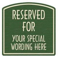 "Reserved For Semi-Custom Designer Dome Sign 22""x16"""