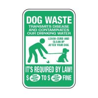 Semi-Custom Clean Up After Your Dog Sign