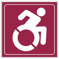 Dynamic Wheelchair Symbol - Engraved Graphic Restroom Signs