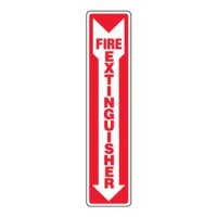 Eco-Friendly Safety Signs - Fire Extinguisher (Arrow Down)