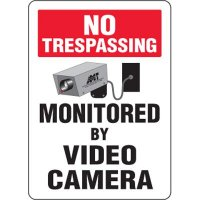 Eco-Friendly Signs - No Trespassing Monitored by Video Camera