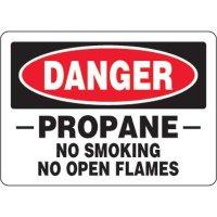 Eco-Friendly Signs - Danger Propane No Smoking No Open Flames
