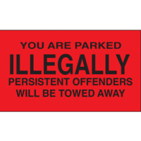 Parking Control Labels - You Are Parked Illegally