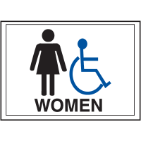 Economy Front Office Signs - Women/Handicap