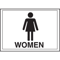 Economy Front Office Signs - Women