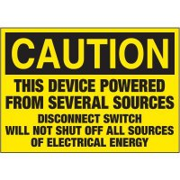 Electrical Warning Labels - Caution This Device Is Powered