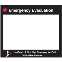 Emergency Evacuation Insert Frame